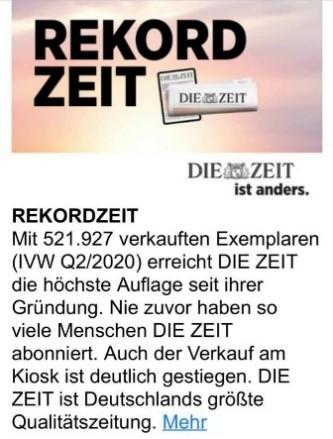 Zeit Post on Facebook